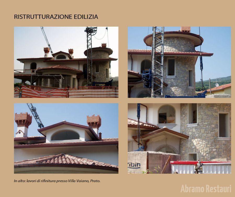 Villa Vaiano Montopoli - Restauro facciata edificio storico