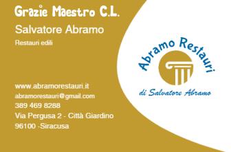 Biglietto da visita - Abramo Restauri